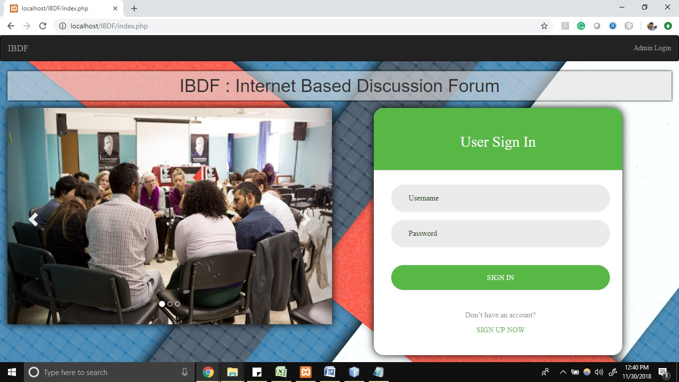 Free Internet based discussion forum project with PHP & MySQL