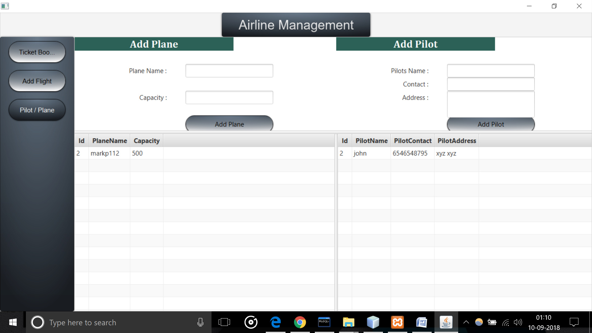 Free Airline Management System